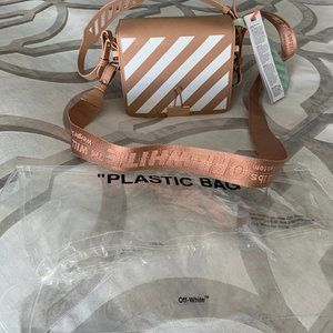 BNWT Off-White Nude & Rose Gold Diag Clip Bag